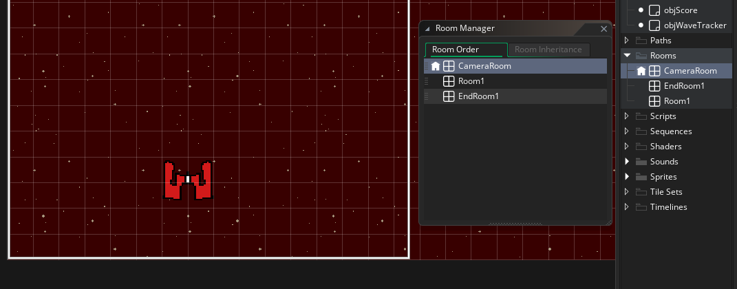 room order in gamemaker